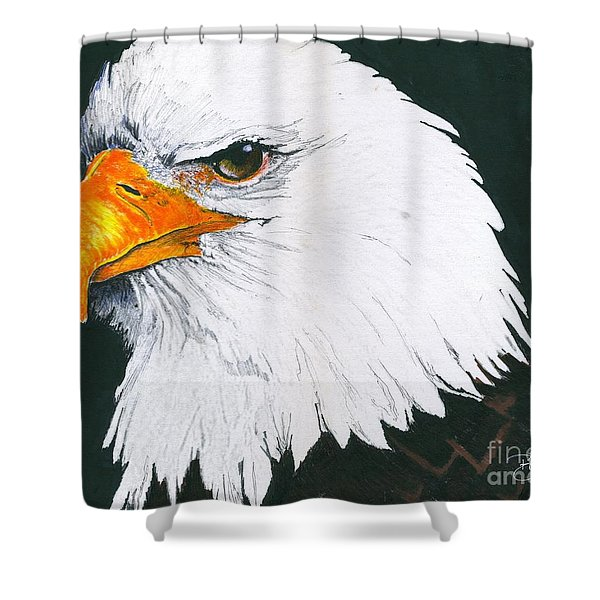 Us Bald Eagle Shower Curtain