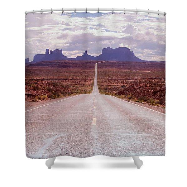 Us Highway 163 Shower Curtain