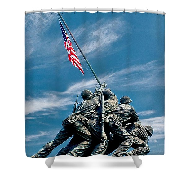 Us Marine Corps War Memorial Shower Curtain