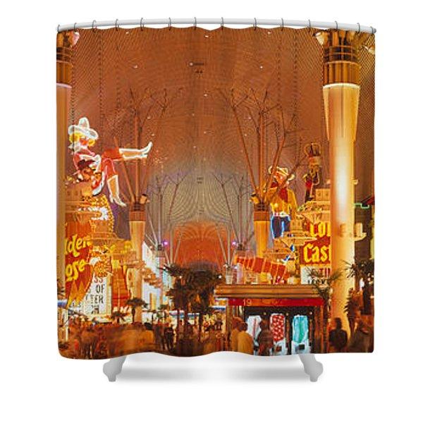 Usa, Nevada, Las Vegas, Night Shower Curtain