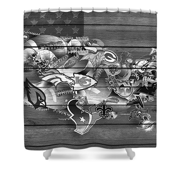 Usa Nfl Map Collage 11 Shower Curtain