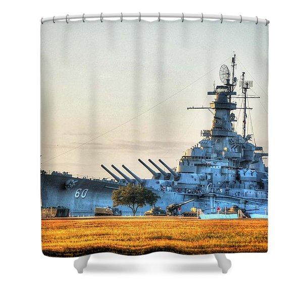 Uss Alabama Shower Curtain