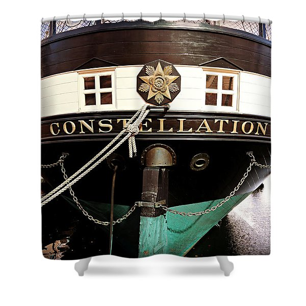 Uss Constellation Shower Curtain