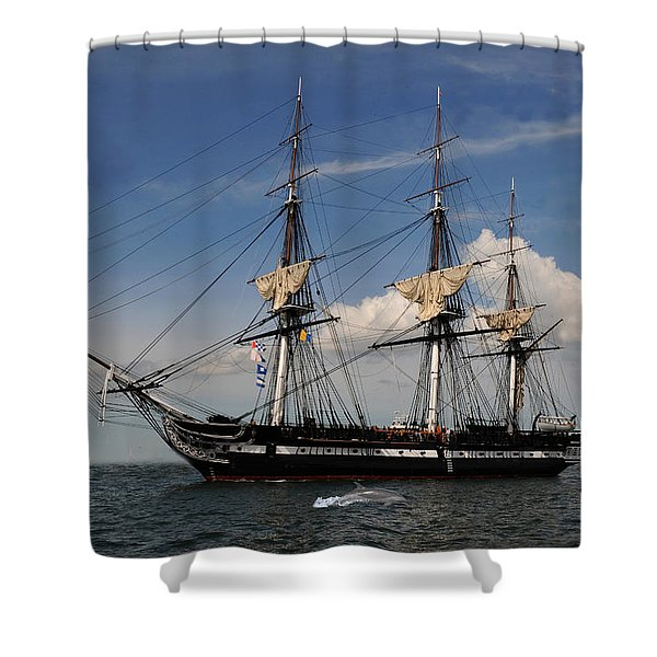 Uss Constitution - Featured In Comfortable Art Group Shower Curtain