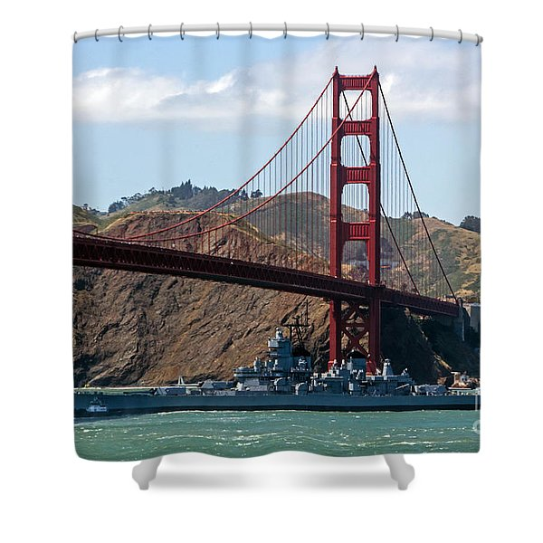 U.s.s. Iowa Up Close Shower Curtain