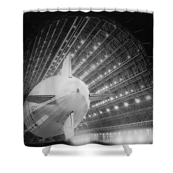 Uss Macon In Hangar One Shower Curtain
