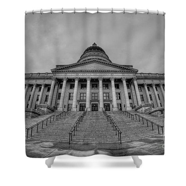 Utah State Capital Bw Shower Curtain
