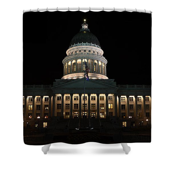 Utah State Capitol Front Shower Curtain