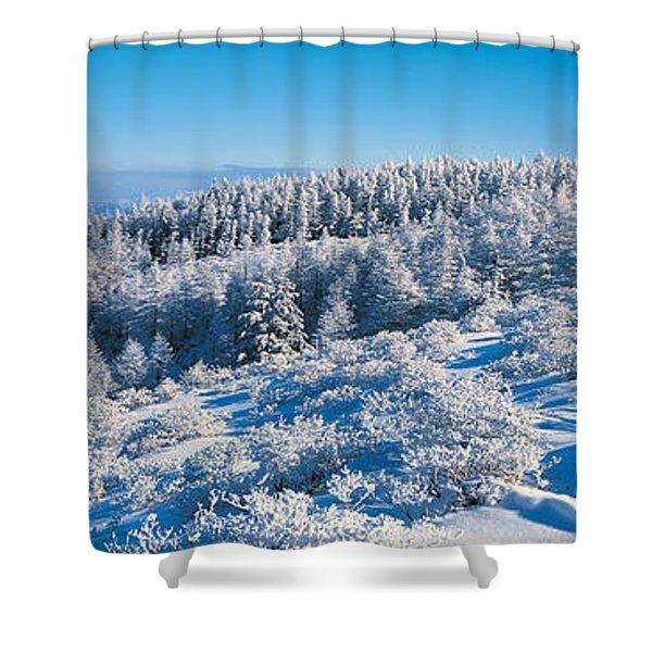 Utsukushigahara Nagano Japan Shower Curtain