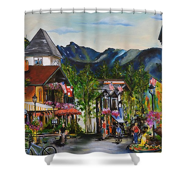 Vail Village Shower Curtain