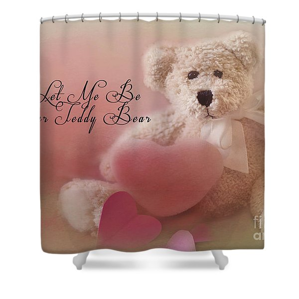 Valentine Bear 2 Shower Curtain