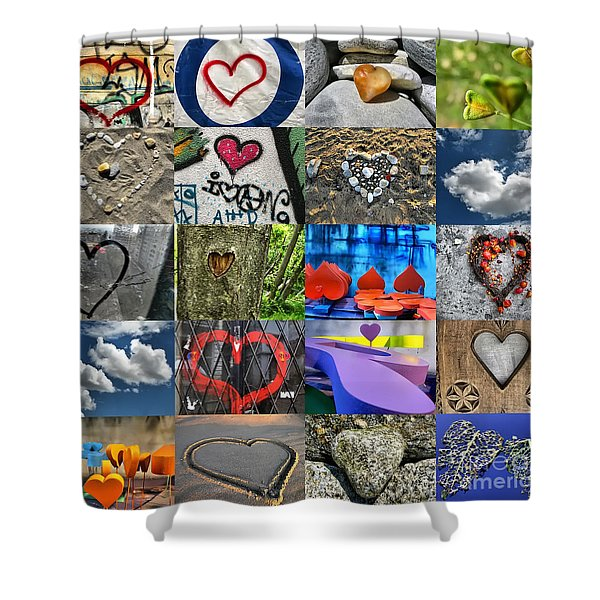 Valentine's Day - Hearts For Sale Shower Curtain