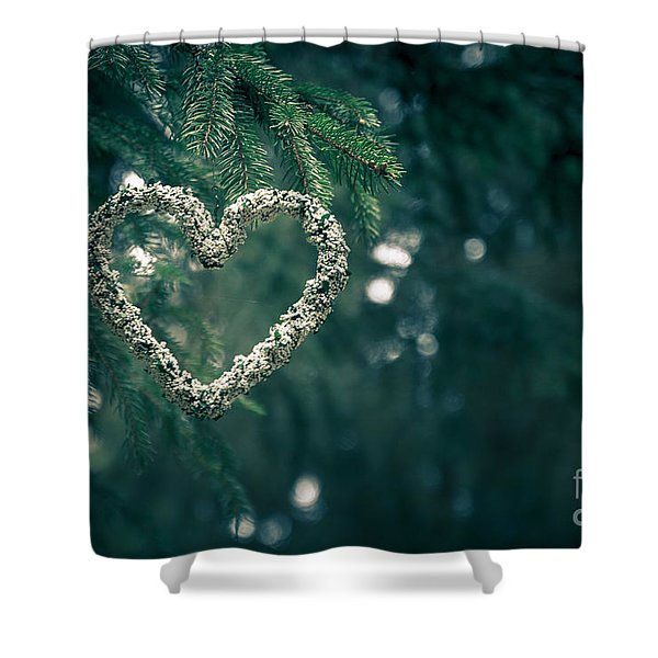 Valentine's Day In Nature Shower Curtain