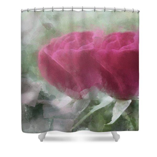 Valentine's Roses Shower Curtain
