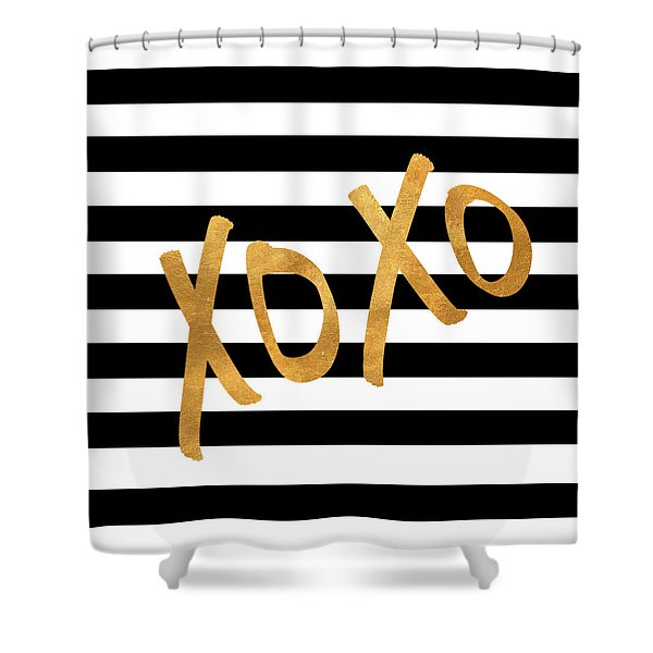 Valentines Stripes IIi Shower Curtain