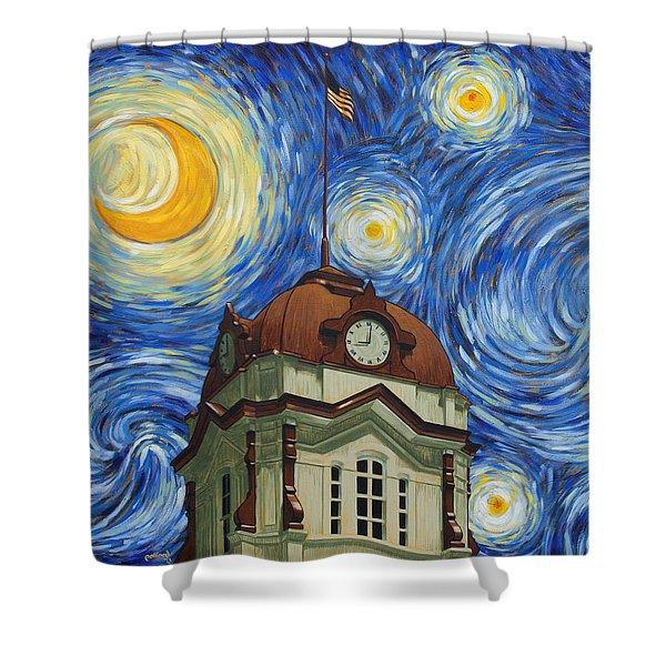 Van Gogh Courthouse Shower Curtain