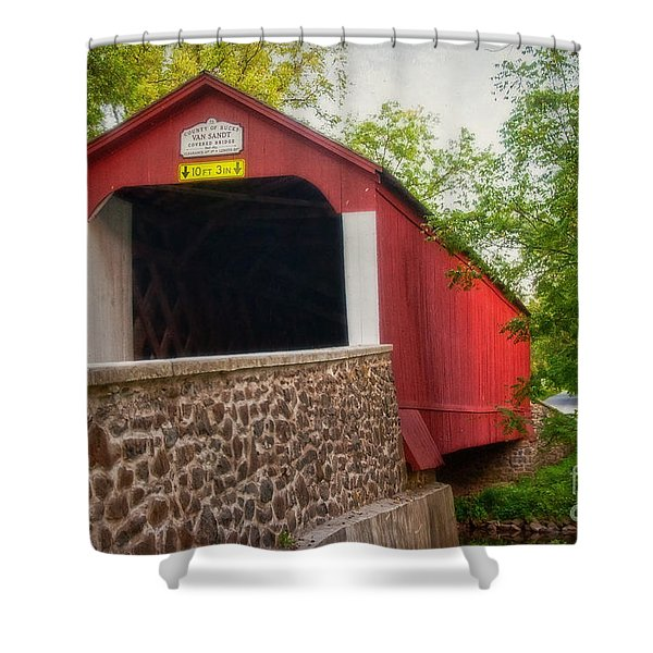 Van Sandt Bridge Shower Curtain