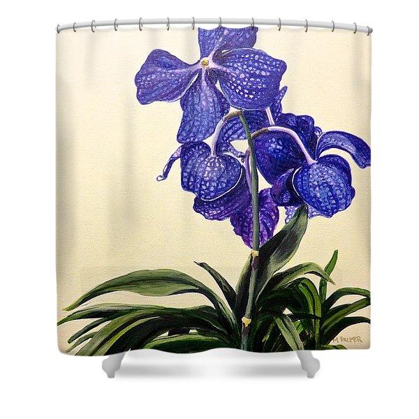 Vanda Sausai Blue Orchid Shower Curtain