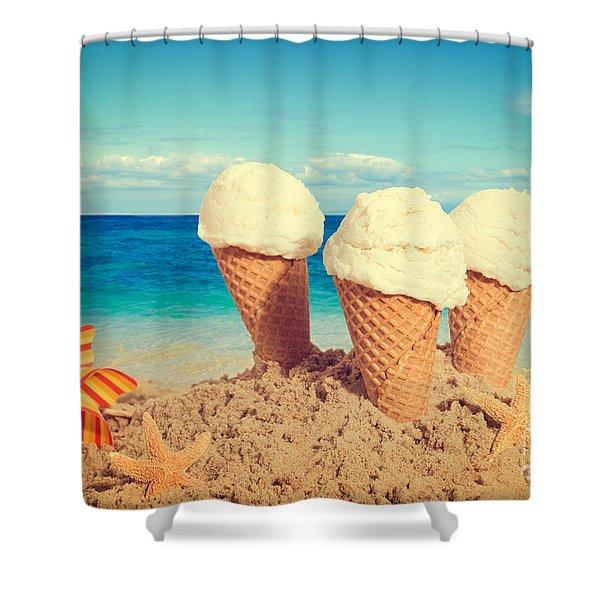Vanilla Icecreams Shower Curtain