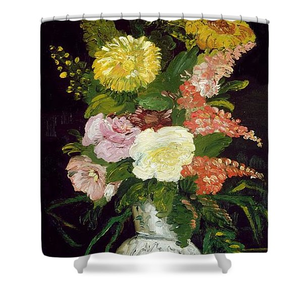 Vase Of Flowers, 1886 Shower Curtain