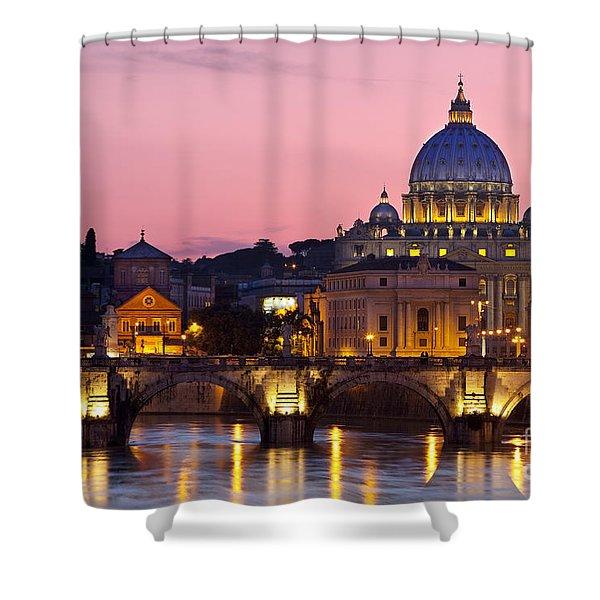 Shower Curtain featuring the photograph Vatican Twilight by Brian Jannsen