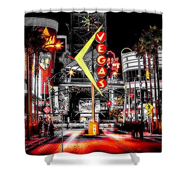 Vegas Nights Shower Curtain