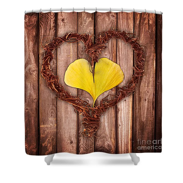 Vegetal Hearts Shower Curtain