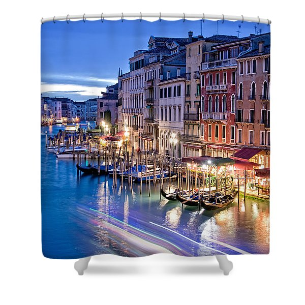 Venetian Blue Shower Curtain