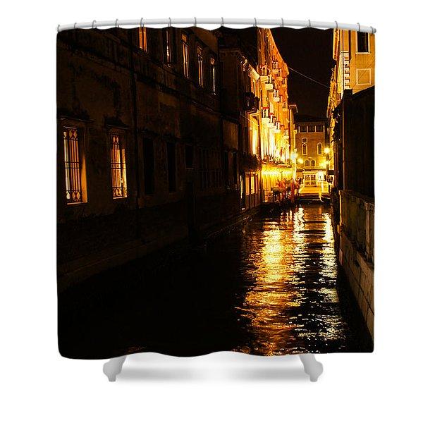 Venetian Golden Glow Shower Curtain