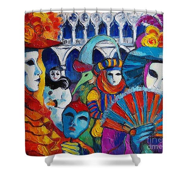 Venice Carnival Shower Curtain