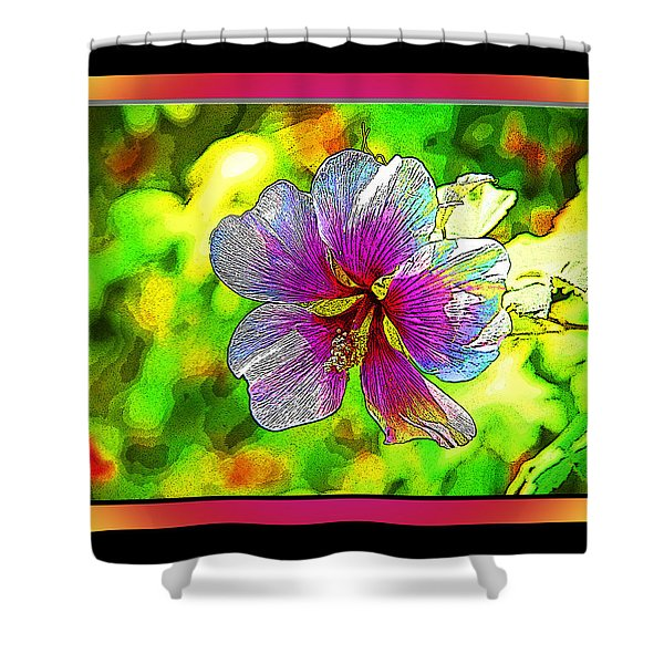 Venice Flower - Framed Shower Curtain