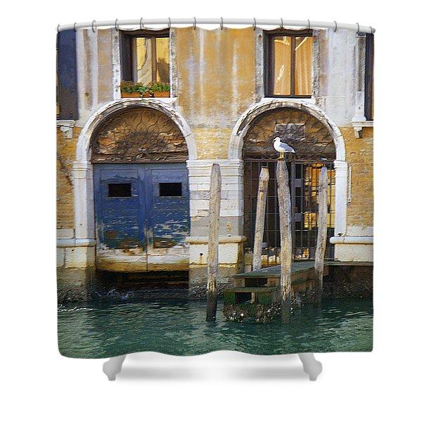 Venice Italy Double Boat Room Shower Curtain