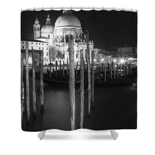 Venice Santa Maria Della Salute In Black And White Shower Curtain