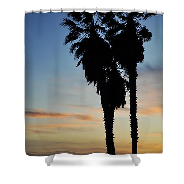 Ventura Palm Sunset Shower Curtain