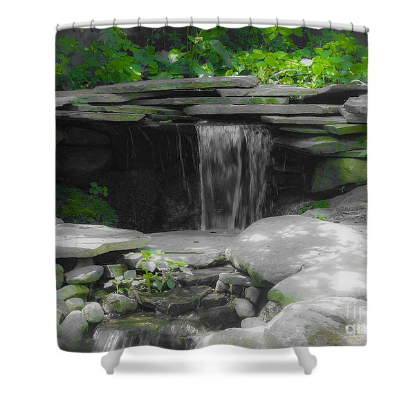 Verde Falls Shower Curtain