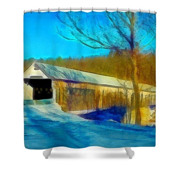 Vermont Covered Bridge Shower Curtain