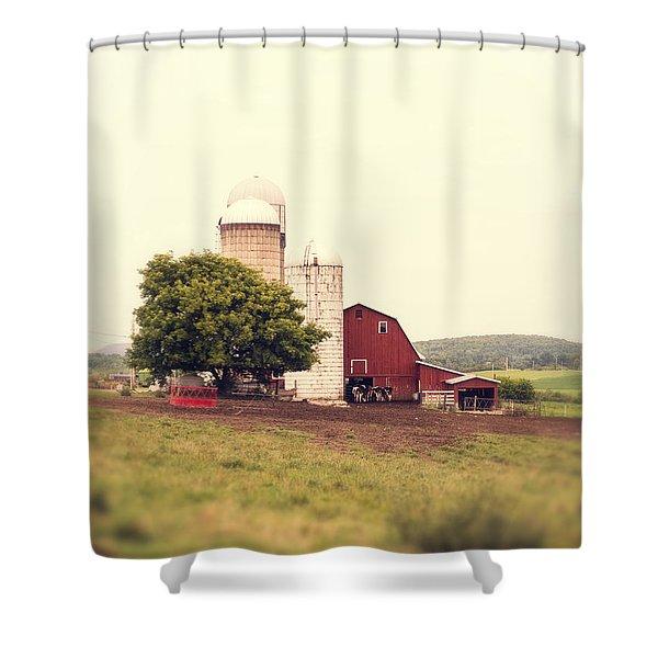 Vermont Family Farm Shower Curtain