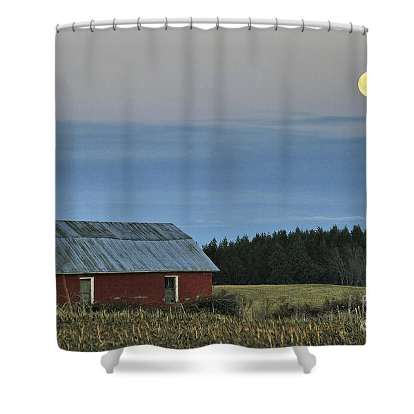 Vermont Full Moon Shower Curtain