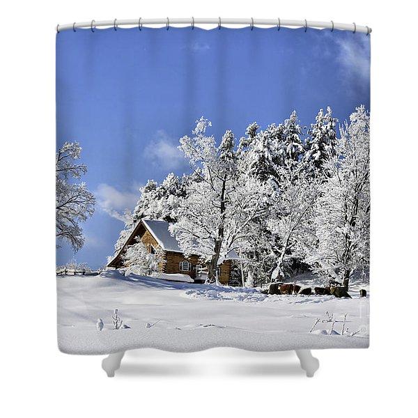 Vermont Winter Beauty Shower Curtain
