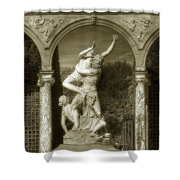 Versailles Colonnade And Sculpture Shower Curtain