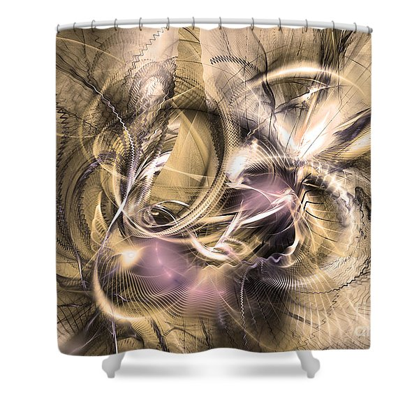 Vestigium Aeternum - Abstract Art  Shower Curtain