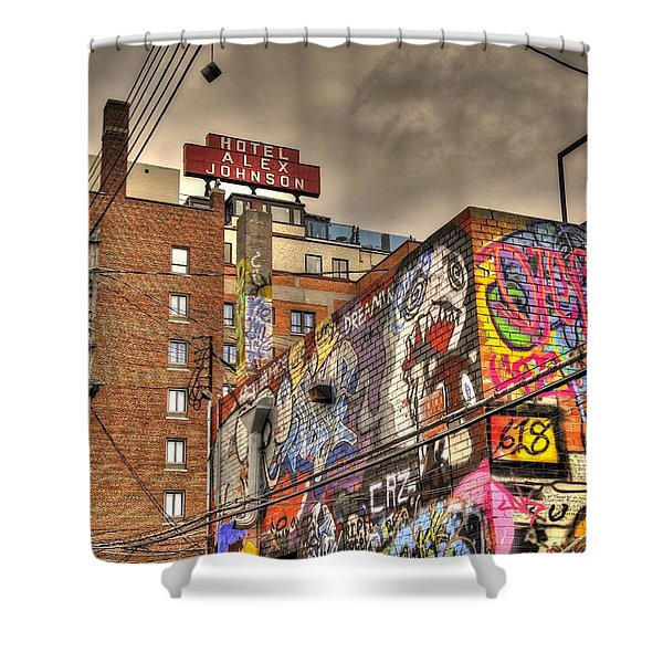 Vibrant Lodging Shower Curtain