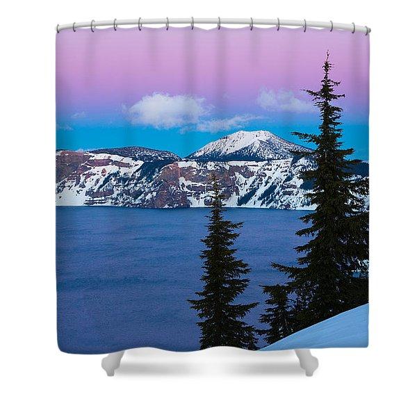 Vibrant Winter Sky Shower Curtain