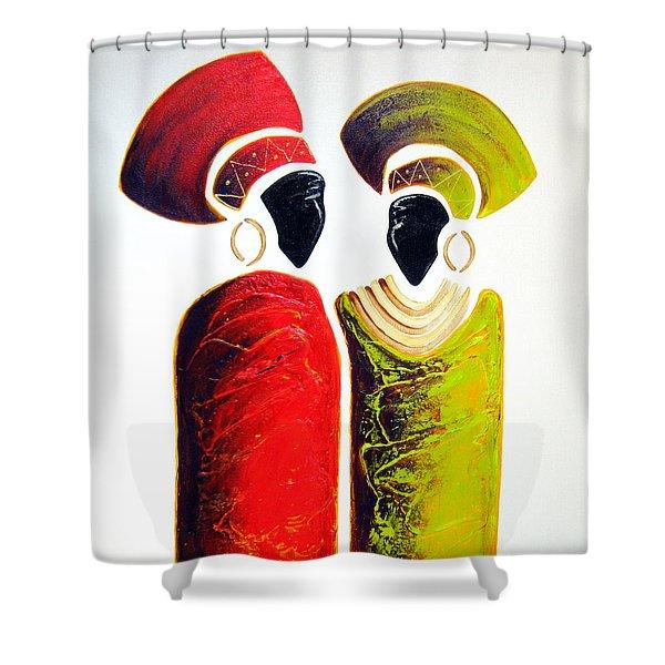 Vibrant Zulu Ladies - Original Artwork Shower Curtain