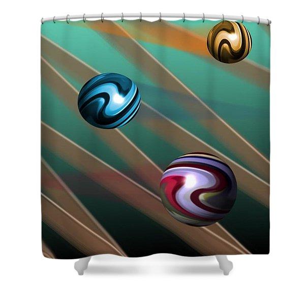 Vibrations Shower Curtain