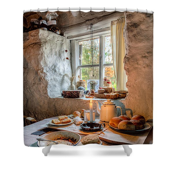 Victorian Cottage Breakfast V.2 Shower Curtain