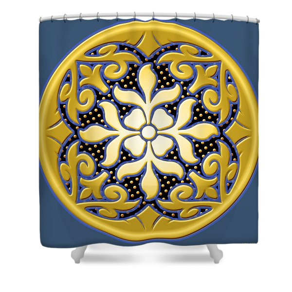 Victorian Door Knob Design Shower Curtain