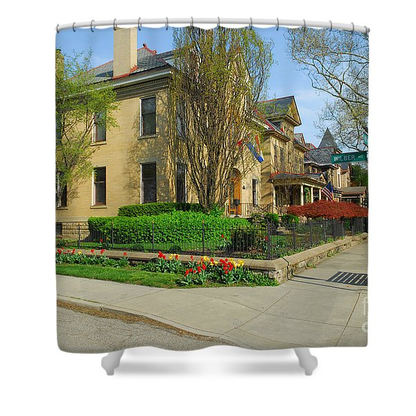 D47l-15 Victorian Village Photo Shower Curtain