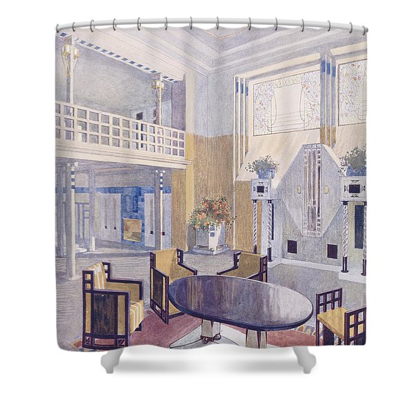 Viennese Project From A Hall Shower Curtain