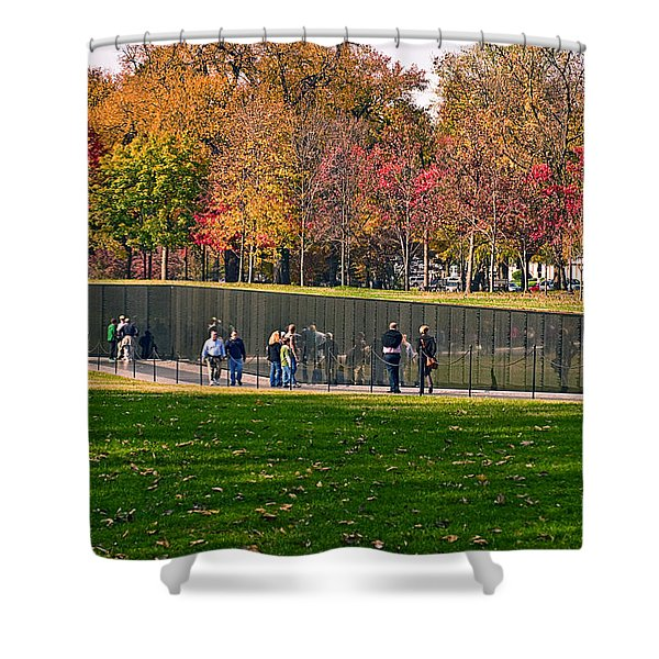 Vietnam Memorial Wall Shower Curtain